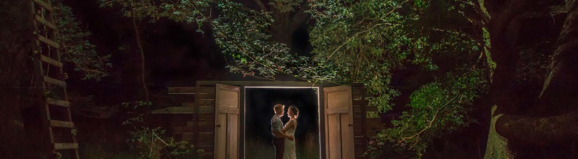 Add an extra dimension on your wedding day with a night shoot.